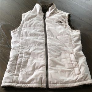 The North Face Jackets & Coats - White The North Face Reversible Vest Excellent Sm